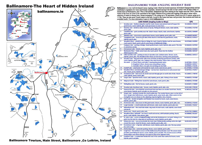 Fishing Map around Ballinamore
